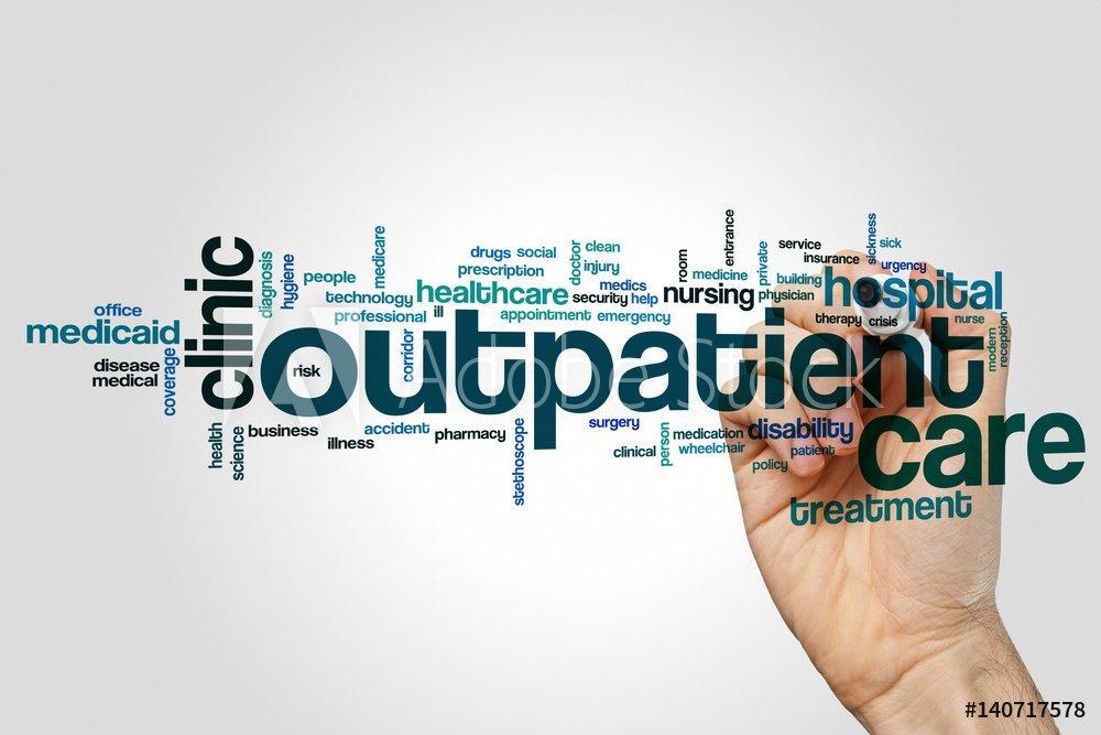 outpatient word cloud